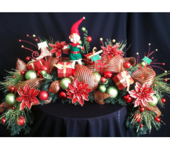 silk christmas mantel  piece in New Iberia LA, Breaux's Flowers & Video Productions, Inc.