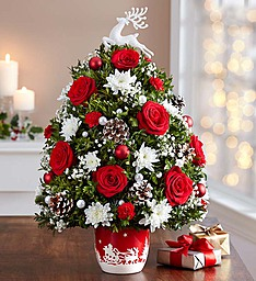 Santa�s Sleigh Ride Tree in Round Rock TX, Heart & Home Flowers