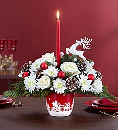 Santa�s Sleigh Centerpiece in Round Rock TX, Heart & Home Flowers