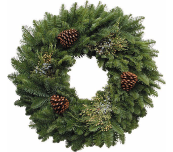 Fresh Mixed Greenery Wreath in Little Rock AR, Tipton & Hurst, Inc.