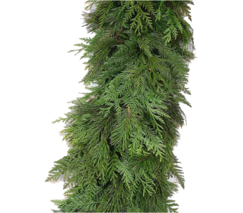 Fresh Mixed Christmas Green Garland in Little Rock AR, Tipton & Hurst, Inc.