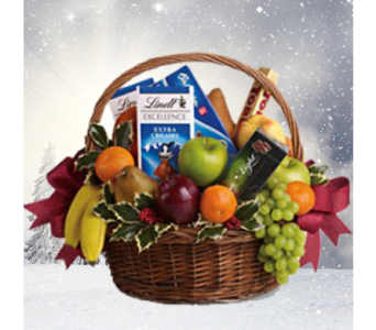 Fruits and Sweets Christmas Basket in Indianapolis IN, George Thomas Florist
