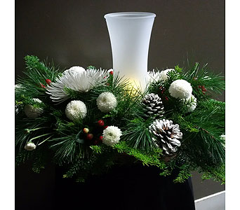 Christmas Glow Centerpiece in Barrie ON, The Flower Place