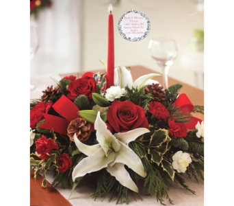 Buds & Blooms Christmas Centerpiece in Staten Island NY, Buds & Blooms Florist
