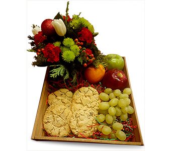 Santa's Cookies Basket in Fort Worth TX, TCU Florist