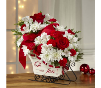 The FTD Holiday Traditions Bouquet (Sleigh Ride) in Cleveland OH, Orban's Fruit & Flowers