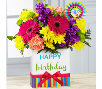 The FTD� Birthday Brights� Bouquet in El Paso TX, Executive Flowers