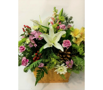 Winter JB Basket in New Paltz NY, The Colonial Flower Shop