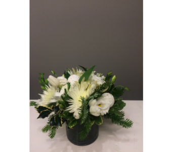Purity Winter Bouquet in Victoria BC, Fine Floral Designs