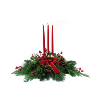 Christmas Centerpiece in Amherst NY, The Trillium's Courtyard Florist