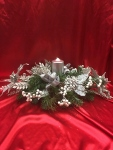 Glitter Silver Christmas Centerpeice  in Sitka AK, Bev's Flowers & Gifts