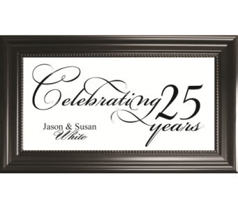 Celebrating 25 Years *PERSONALIZED* in Isanti MN, Elaine's Flowers & Gifts