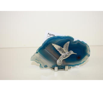 Hummingbird Agate Tealight  in Medicine Hat AB, Crescent Heights Florist