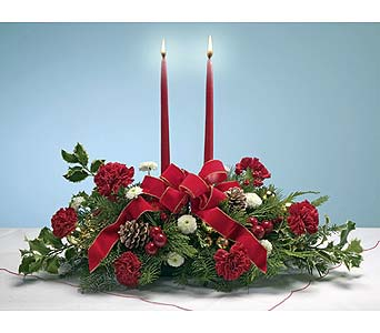 Yuletide Cheer Centerpiece in Tampa FL, Moates Florist