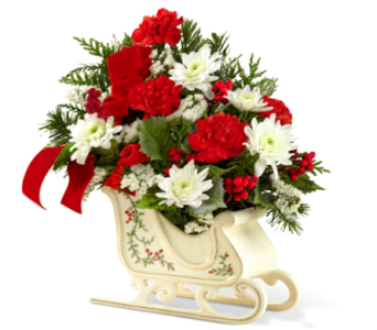 FTD HOLIDAY SLEIGH ARRANGEMENT in Arlington VA, Twin Towers Florist
