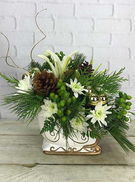 Sleigh Bells in White in Scranton PA, Remick Floral & Gift
