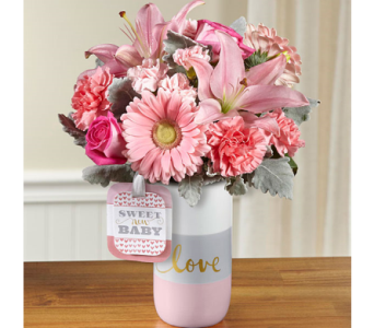 The FTD� Sweet Baby Girl� Bouquet by Hallmark in El Paso TX, Executive Flowers