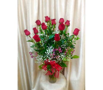 Classic 1DZ. Long Stemmed Red Rose in Orange CA, Main Street Florist