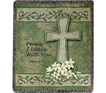 Peace I Leave With You Tapestry Throw in Hollidaysburg PA, Warner's Florist Gifts & Greenhouse