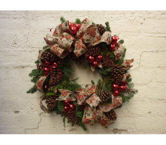 Holiday Cheer Wreath in West Los Angeles CA, Westwood Flower Garden