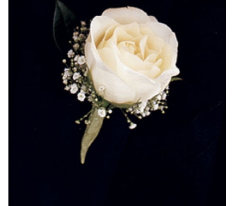 A Night To Shine Boutonniere in Cary NC, Every Bloomin Thing Weddings & Events Inc