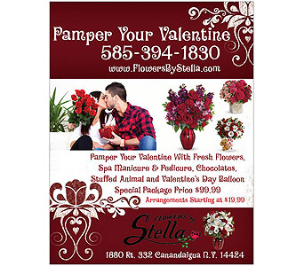 Pamper Your Valentine in Canandaigua NY, Flowers By Stella
