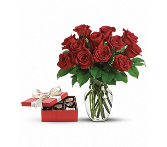 Roses and Chocolates - Gift Set1 in St. Johns NL, Holland Nurseries