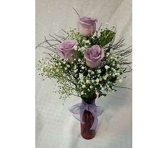LAVENDER ROSE VASE in New Paltz NY, The Colonial Flower Shop