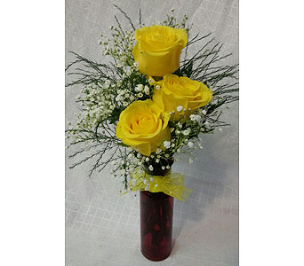 Yellow Roses  Vased in New Paltz NY, The Colonial Flower Shop
