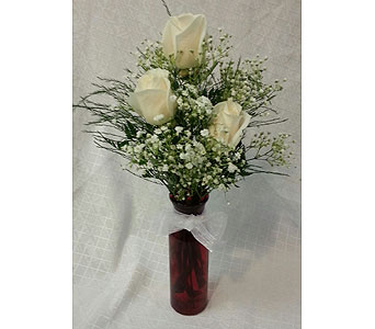 white rose vased in New Paltz NY, The Colonial Flower Shop