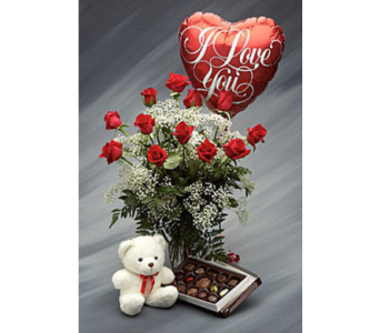 Valentine Bear and Chocolates in Campbell CA, Citti's Florists