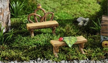 Enchanted Forest Log Design Bench, 2/Asst in Guelph ON, Patti's Flower Boutique