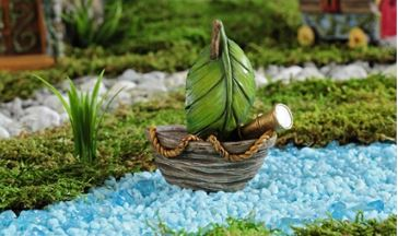 Enchanted Forest Leaf & Log Design Sail Boat in Guelph ON, Patti's Flower Boutique