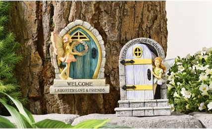 POLYSTONE WOODLAND FAIRY DOOR GARDEN DECOR, 2/ASST in Guelph ON, Patti's Flower Boutique