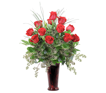 A Dozen Premium Red Roses in Muscle Shoals AL, Kaleidoscope Florist & Gifts