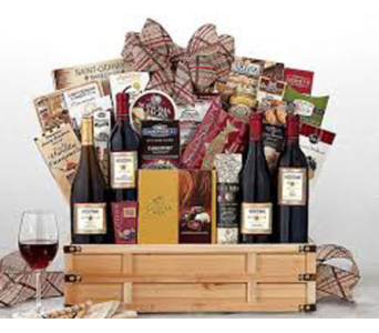 Wine and Gourmet Basket in Fairfax VA, Rose Florist