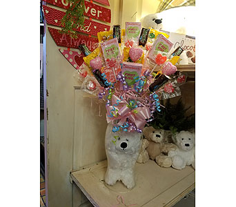 Teddy Bear & Candy Bokays in Zanesville OH, Miller's Flower Shop
