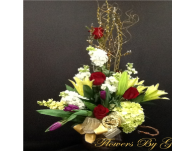 Golden Love  in Brentwood CA, Flowers By Gerry