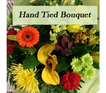 Hand tied bouquet in Warm tones  in Richmond BC, Touch of Flowers