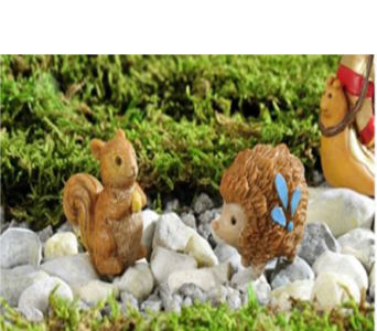 Enchanted Forest Animal Figurine, 2/Asst in Guelph ON, Patti's Flower Boutique