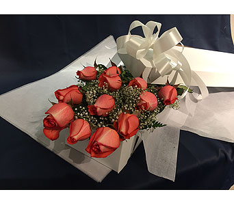 12 Orange Roses Boxed in Markham ON, Freshland Flowers