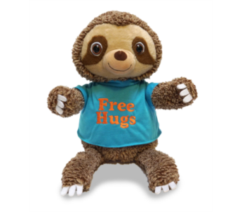 Animated Huggins the Sloth in Oklahoma City OK, Trochta's