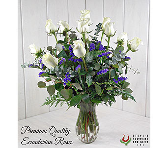 Premium Quality White Roses in Indianapolis IN, Steve's Flowers and Gifts