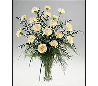 White Carnation Vase of Innocence in Cohasset MA, ExoticFlowers.biz
