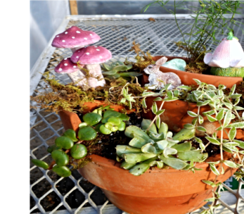 Three Tier Fairy Garden in Skowhegan ME, Boynton's Greenhouses, Inc.