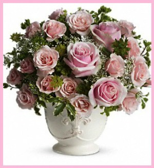 Parisian Pinks with Pink Roses in Hamilton ON, Joanna's Florist
