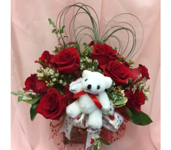 I Love You Bear Bouquet in Dripping Springs TX, Flowers & Gifts by Dan Tay's, Inc.