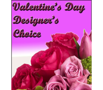 Valentine's Day Designer's Choice in Modesto CA, Flowers By Alis
