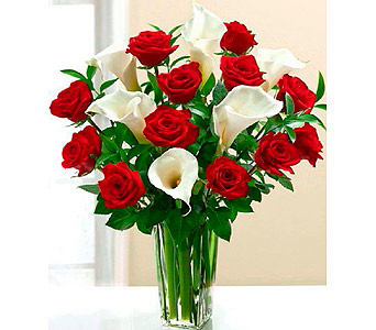 FF105 Calla Magic Roses and Mini Calla Lilies in Oklahoma City OK, Array of Flowers & Gifts