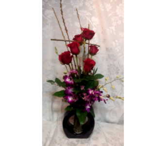 Rose & Orchid Zen in Lake Forest CA, Cheers Floral Creations